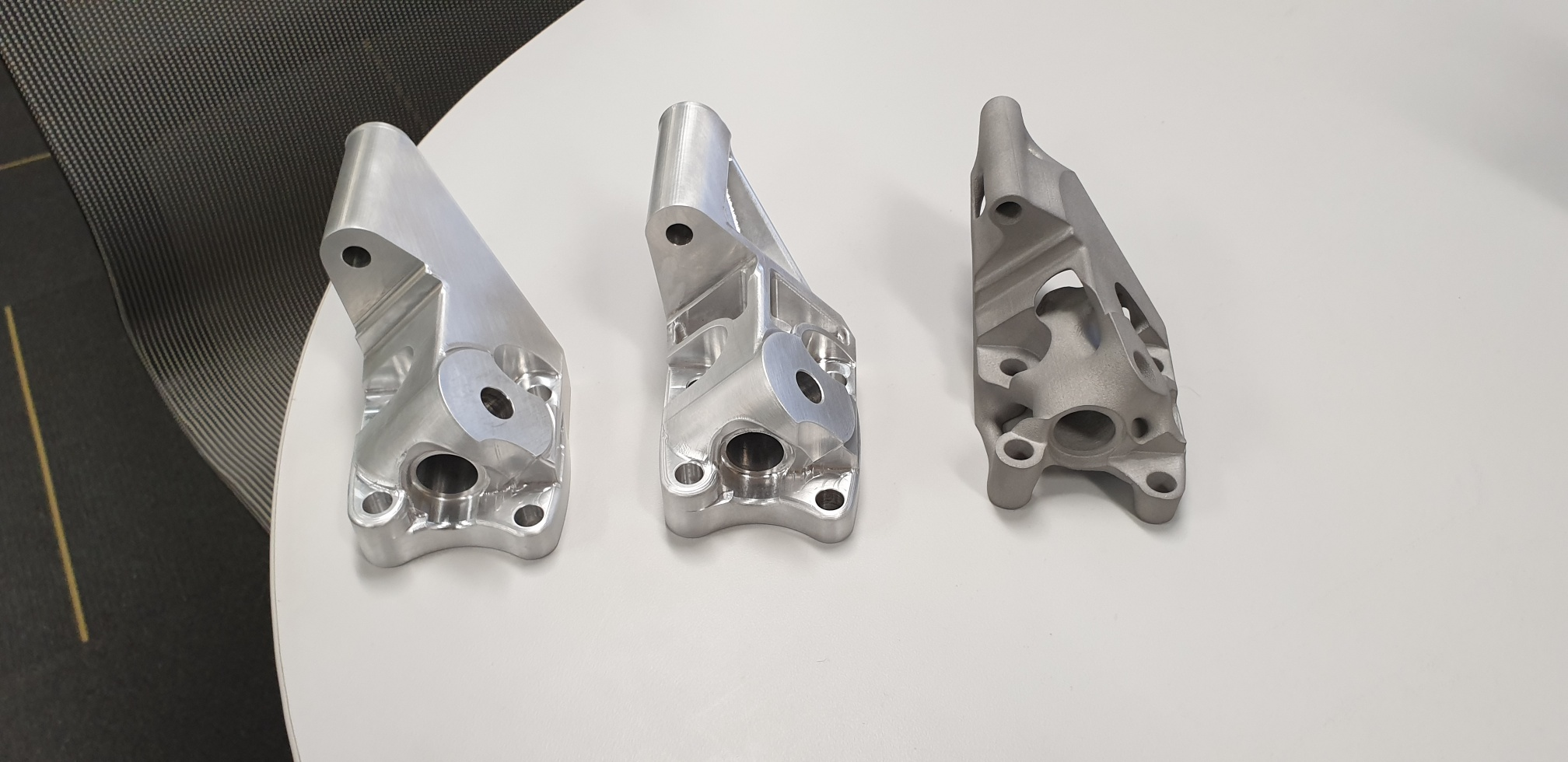3D printed & Machined Component design iterations & comparisons