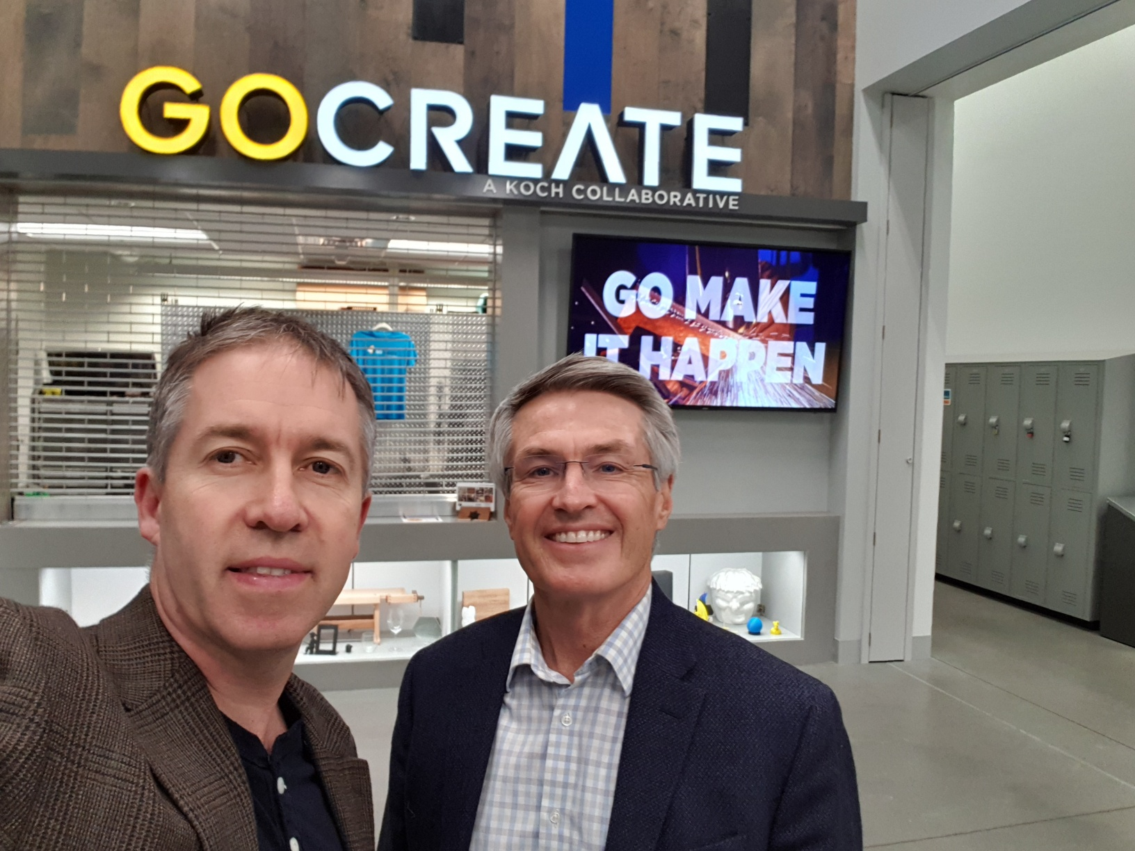 Kevin & Jeff Smith at the GO Create facility