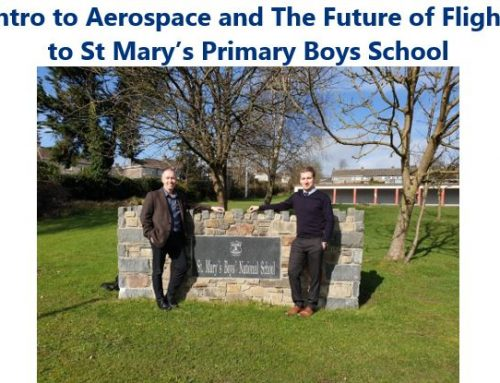 Keltia introduces Aerospace and Future of Flight to St Mary's Boys School Ferrybank, Waterford